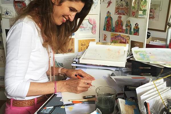 Florine Asch dans son atelier du Marais